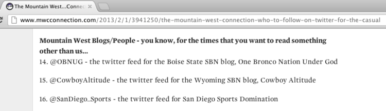 Mountain West Connection website.. screen shot.