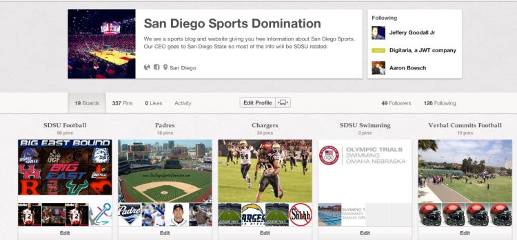 San Diego Sports Domination Pinterest