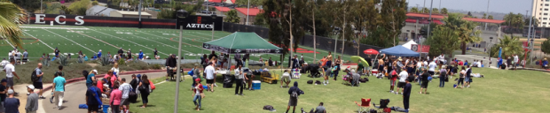 Photo Credit: CEO David Frerker at a San Diego State Football Camp.