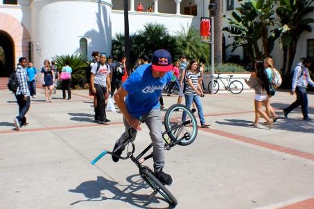 Photo Credit: Ikaika Louis. Terry Adams Flatland BMX Demo at San Diego State University