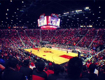 SDSU vs. UNLV Men's Basketball.  Photo Credit CEO David Frerker