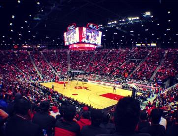 SDSU vs. UNLV Men's Basketball.  Photo Credit CEO David Frerker