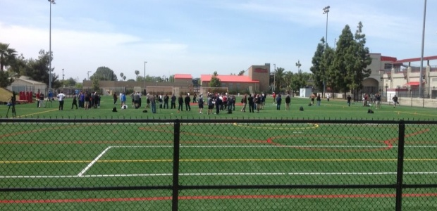 NFL Scouts at San Diego State Pro Day. Photo Credit: CEO David Frerker