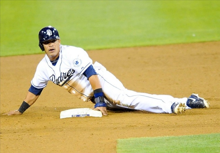 Cabrera steals second and strikes a pose...