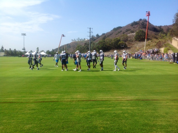 Chargers Training Camp: Mandatory Photo Credit: David Frerker