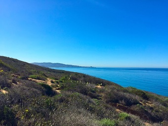View from Broken Hill Trail in the Torrey Pines State Natural Reserve. Mandatory Photo Credit David Frerker.