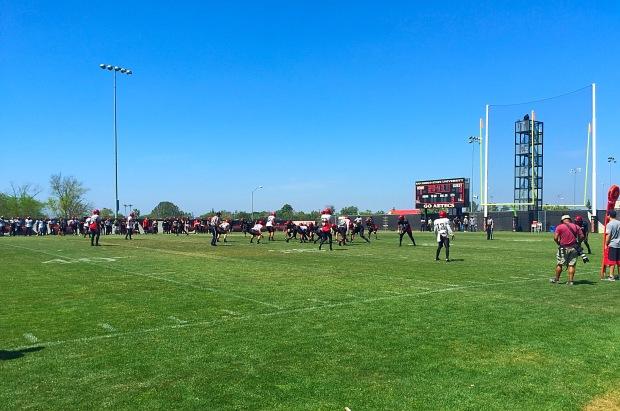 San Diego State Red & Black Spring Game. Mandatory Photo Credit David Frerker.