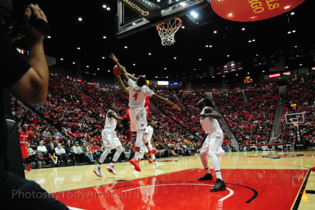 San Diego State vs. Illinois Sate at Viejas Arena on November 13th 2015. This game kicked off the regular season for the Aztecs. Mandatory Photo Credit: Tony Amat.