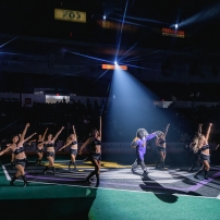 San Diego Sirens Dance Team, San Diego Seals vs Saskatchewan Rush@ Pechanga Arena San Diego January 12, 2020